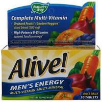 Nature's Way, Alive! Поливитаминный комплекс для мужчин · мультиминералы, 50 таблеток