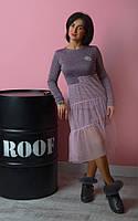 Теплое женское платье из ангоры 44-50