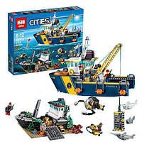 """Детский конструктор типа LEGO """"Корабль исследователей морских глубин""""  Lepin 02012"""