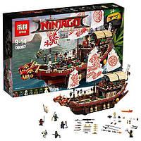 """Игрушка детский конструктор Ninjago Movie Lepin 06057 (аналог Lego 70618) """"Летающий корабль Мастера Ву"""", (2345 деталей)"""