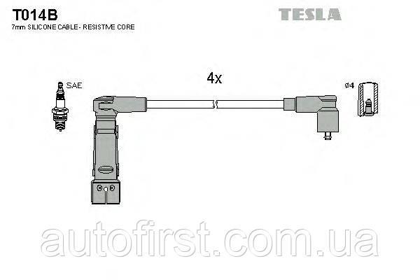 Комплект высоковольтных проводов Tesla T014B для Alfa Romeo