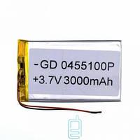 Аккумулятор GD 0455100P 3000mAh Li-ion 3.7V Код:24424