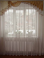 Ламбрекен  2м  Дуга коричневый, фото 1