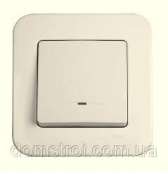 Выключатель 1-клав. с подсветкой VIKO Rollina крем, фото 2