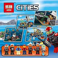 """Оригинальный детский конструктор типа LEGO """"Корабль исследователей морских глубин""""  Lepin 02012"""