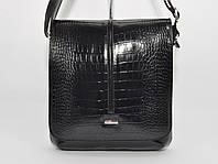 Кожаная мужская сумка Desisan 342-11 черная кроко, фото 1