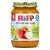 HiPP Пюре фруктовое: персик-яблоко 190 г,  с 4-го мес.