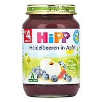 HiPP Пюре фруктовое: ягоды-яблоко 190 г,  с 4-го мес.
