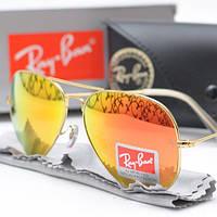 Очки Ray Ban 3025 Aviator Red стекло комплект, копия