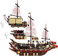 """Игрушка детский конструктор Ninjago Movie Lepin 06057 (аналог Lego 70618) """"Летающий корабль Мастера Ву"""", 2345 дет."""