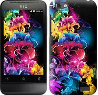 """Чехол на HTC One V t320e Абстрактные цветы """"511c-227-328"""""""
