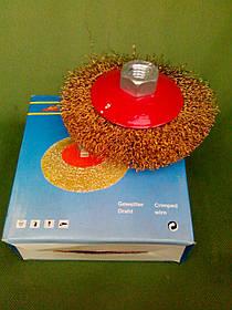 Щетка-насадка по металлу 115 мм. коническая мягкая ANT 115М