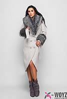 Удлиненное зимнее пальто
