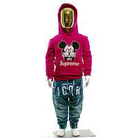 Детская Кофта Louis Vuitton Supreme Mickey Mouse Свитшот Луи Виттон Суприм Микки Маус (размеры от 2-12 лет)