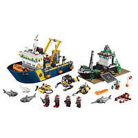 """Конструктор маленький блочный типа LEGO Lepin 02012 """"Корабль исследователей морских глубин"""""""