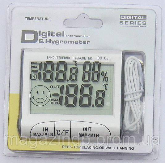 Термометр - гигрометр с выносным датчиком DC-103 Код:475253858