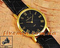 Наручные часы Romanson Adel Quartz Gold Black Roma мужские и женские унисекс кварцевые часики