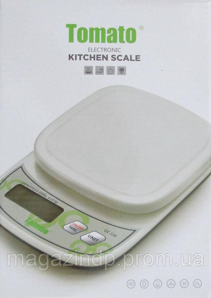 Кухонные весы Qz-158 до 5 кг с подсветкой Код:500279416