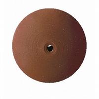 Резинка полировальная каучуковая коричневая (тонкая, выпуклая)