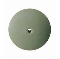 Резинка полировальная каучуковая зеленая-грубая (тонкая, выпуклая)