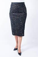 Женская прямая теплая юбка Тамила коричневого цвета
