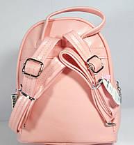 Рюкзак детский для девочки кожзаменитель цвет персик, фото 3
