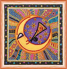 """Набор для вышивания бисером на холсте """"Солнце и луна"""""""