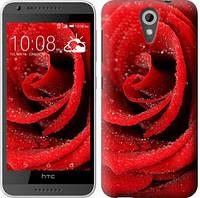 """Чехол на HTC Desire 620G Красная роза """"529c-187-328"""""""