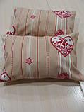 Комплект подушек  2шт сердечко и полоска, фото 2