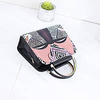 Женская сумка с этно рисунком и ручками, Уценка, фото 1
