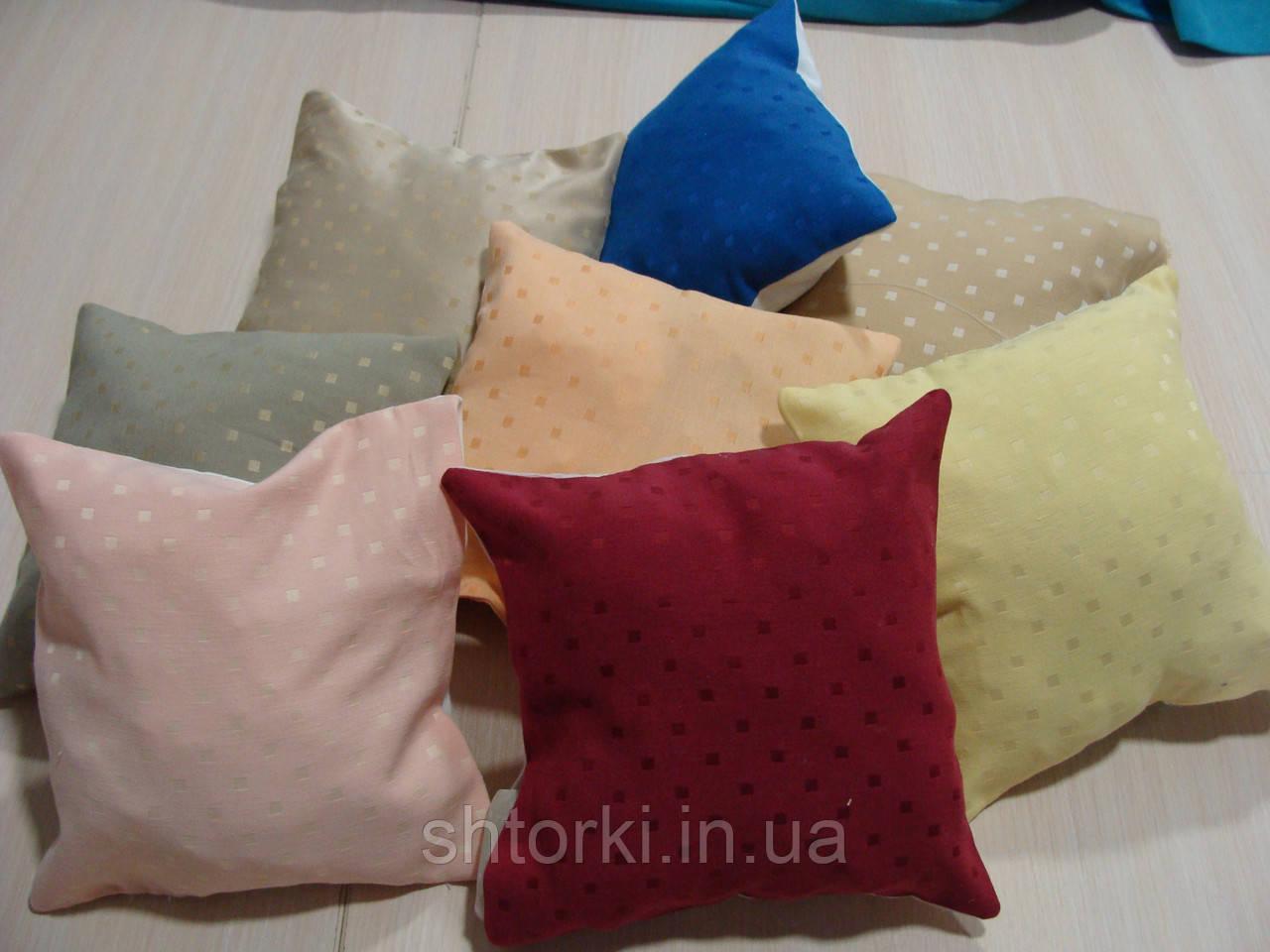 Комплект подушек разноцветные квадратик , 8шт