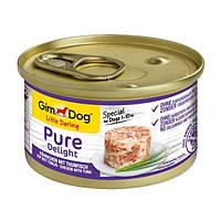 GimDog LD Pure Delight Chicken with Tuna влажный корм с курицей и тунцом в желе для собак малых пород (1-10кг), 85г