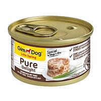 GimDog LD Pure Delight Chicken with Beef влажный корм с курицей и говядиной в желе для собак малых пород (1-10 кг), 85г