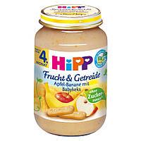 HiPP Фрукты и Зерновые: яблоко-банан-печенье 190 г, с 4-го мес.