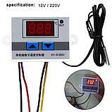 10А  220В  LED цифровой температуры контроллер Термостат переключатель управления, фото 2