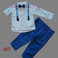 Нарядный костюм для мальчика с бабочкой и подтяжками Турция на 1, 2, 3, 4 года