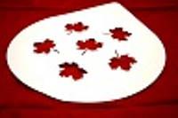 """Трафарет для Торта """"Осенние листья""""250мм( шт)"""
