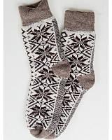 """Мужские вязаные носки """"Звёзды"""" - 1338 коричневый Код:10751"""