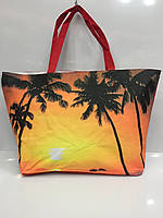 "Пляжная сумка с рисунком ""Пальмы"" - 1626 Код:12490"