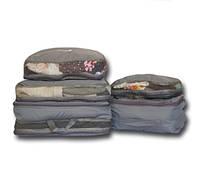 Дорожные сумки-органайзеры в чемодан ORGANIZE серые 5 шт Код:106-10217420