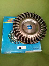 Щетка-насадка по металлу 150 мм. дисковая (косичка) ANT 150К