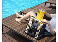 Летняя сумочка для пляжа прорезиненная Код:166-16517703
