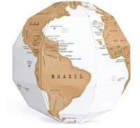 Скрэтч-карта мира Глобус Scratch Globe (на английском) Код:185-18417754