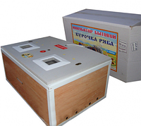 Инкубатор Курочка Ряба ИБ-100 с механическим переворотом и аналоговым терм-р. Пластик