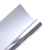 Крафт-бумага подарочная Серебряная Серебро Зеркальная Металлик 10 м/рулон, фото 1