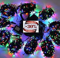 Гирлянда новогодняя светодиодная 400 лампочек, цвет микс