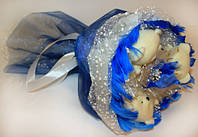 Букет из мишек Синий Иней Код:185-18410626