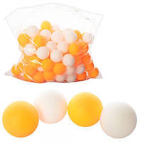 Теннисные шарики MS 0451, 40мм, PP, шовный, 1 упаковка 144 шт., 2 цвета