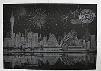 Скретч-картина Ночной Сидней Код:185-18414321