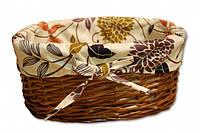 Плетеная корзинка Цветы Код:103-10214946
